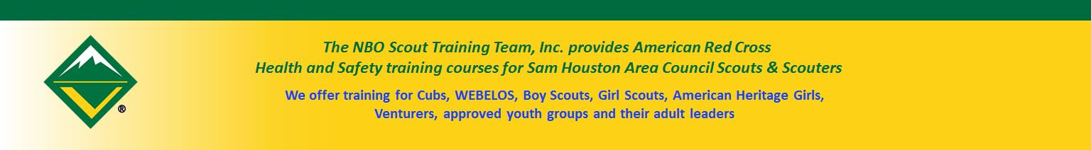 The NBO Scout Training Team Footer